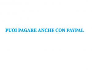 Puoi pagare con paypal